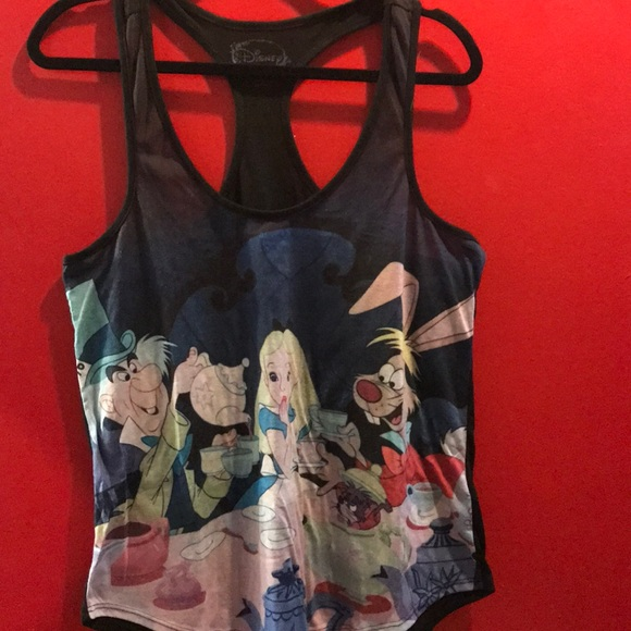 Hot Topic Tops - Alice in wonderland mad tea party tank
